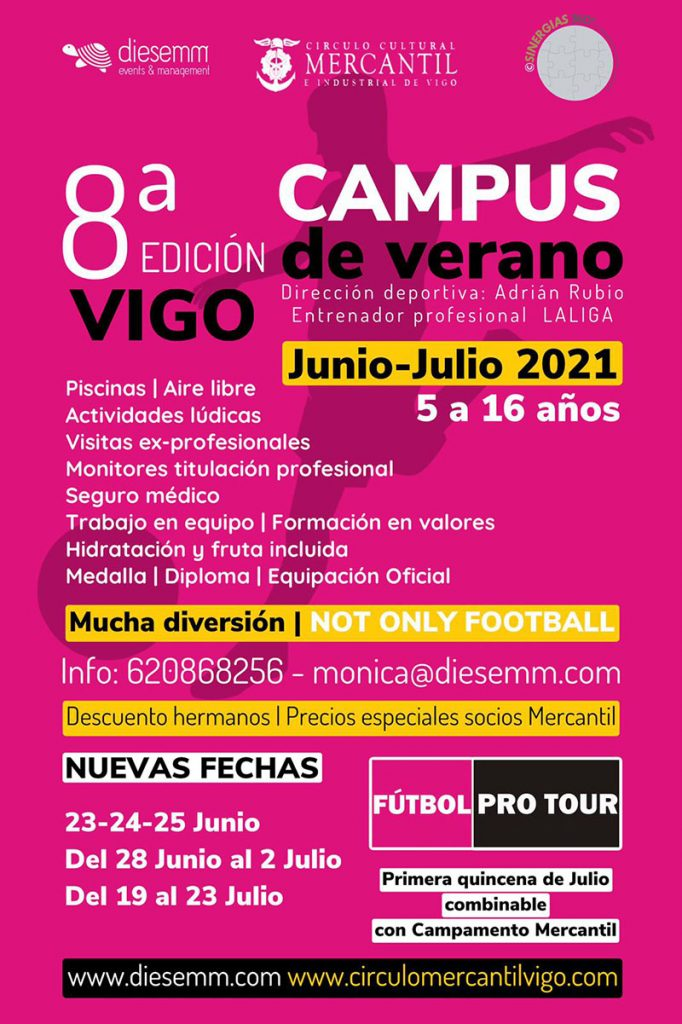 Mercantil de vigo campus verano pro futbol