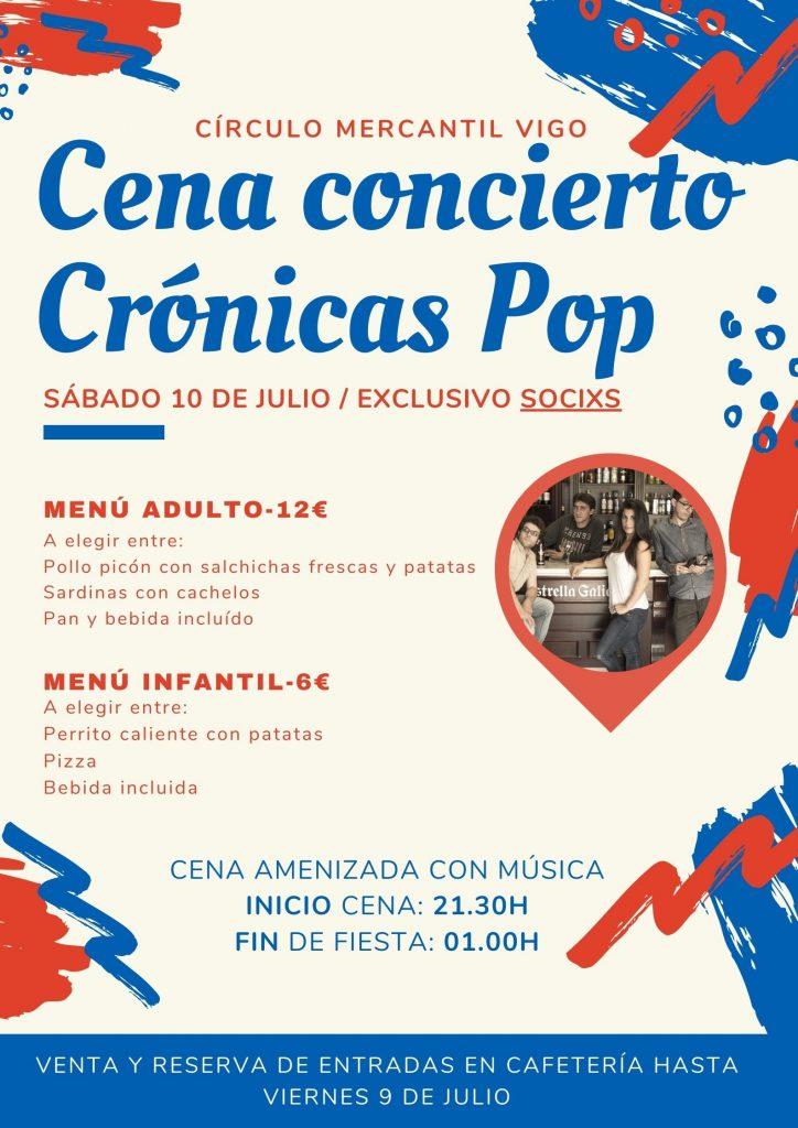 Cena concierto cronicas pop