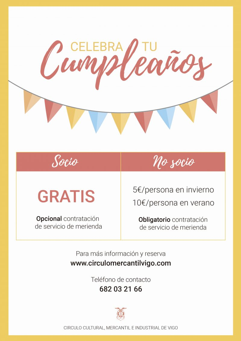 Celebra tu cumpleaños en el Mercantil