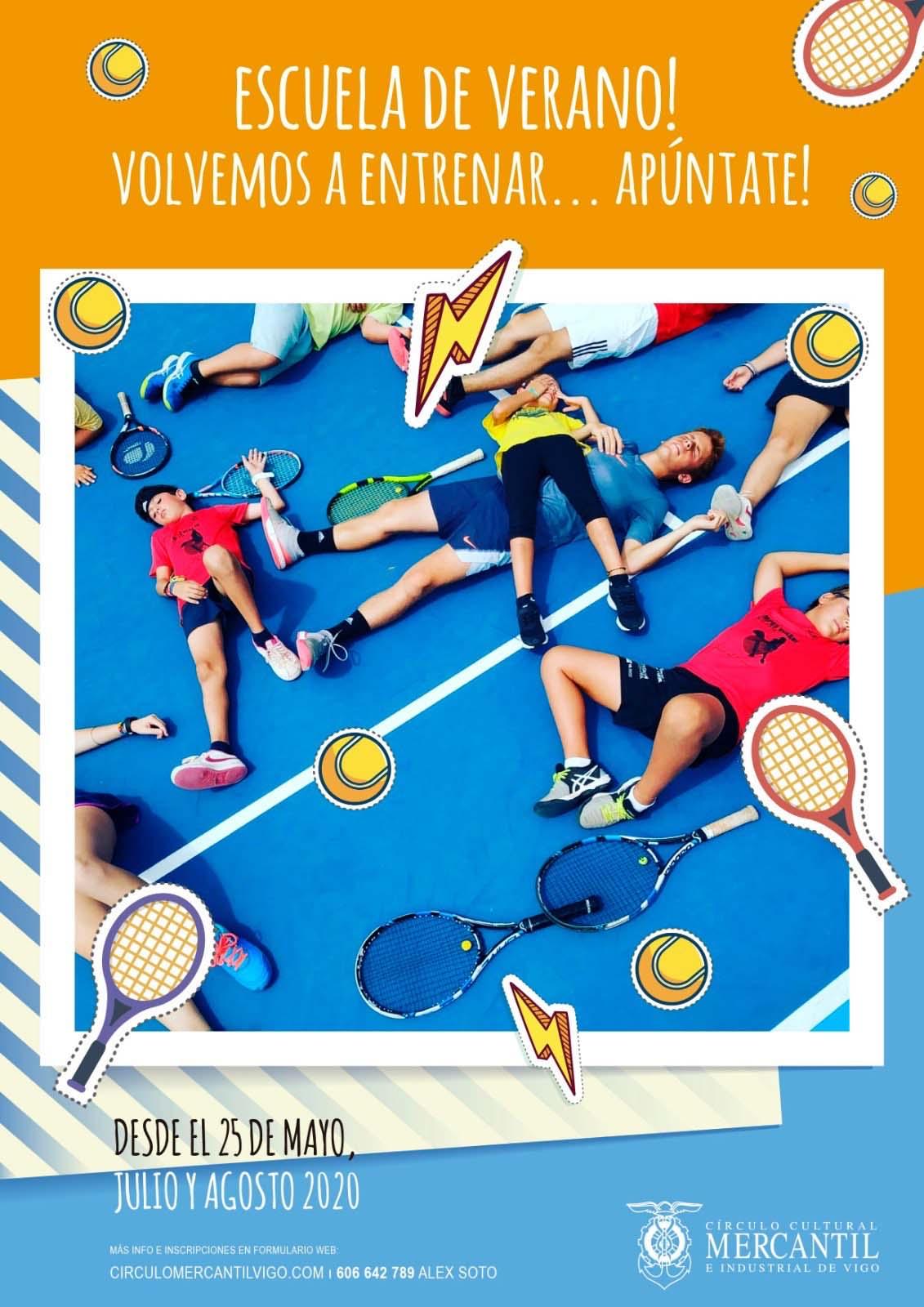escuela de tenis mercantil verano
