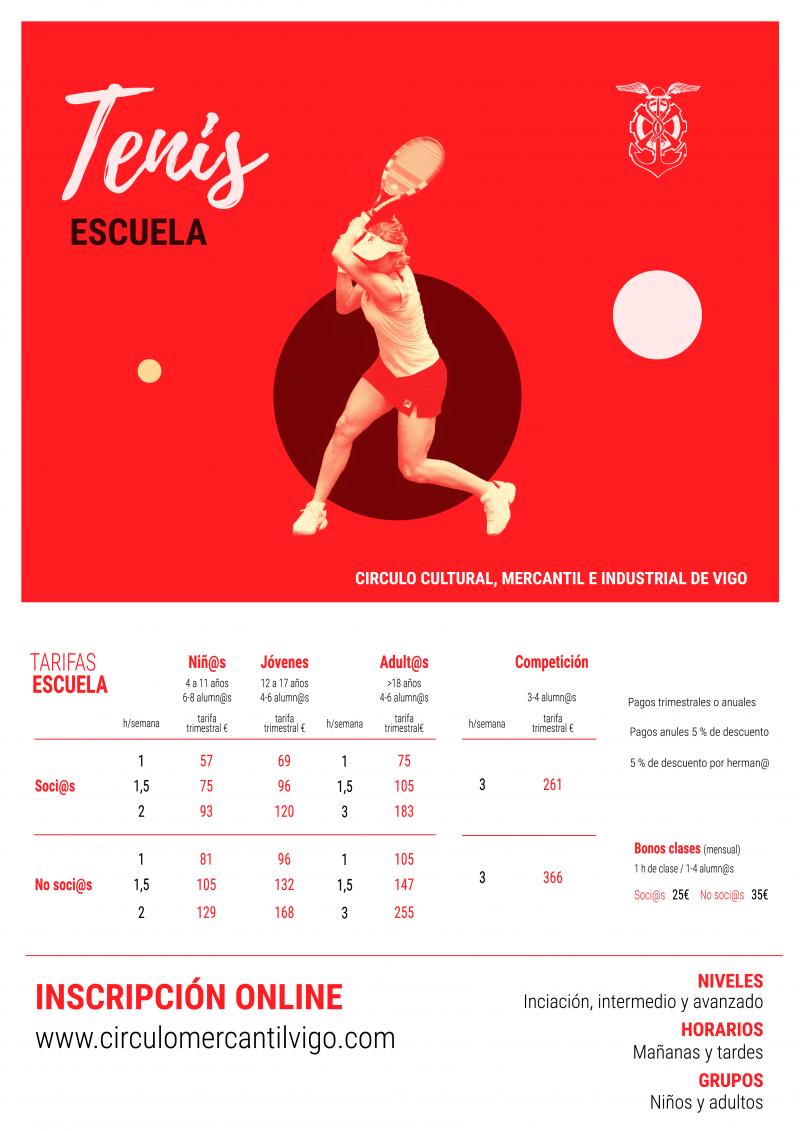 Abiertas las inscripciones para la Escuela de Tenis 2018/19