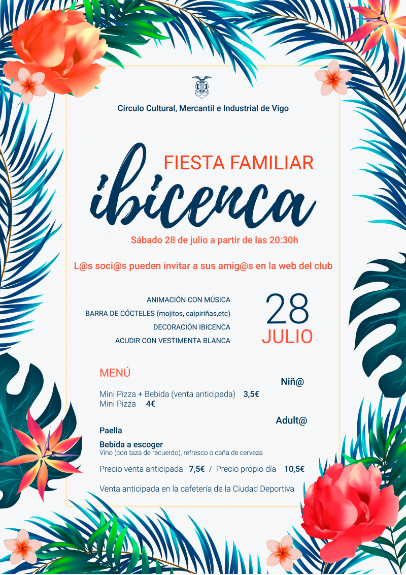 Ven a la Fiesta Familiar Ibicenca el sábado 28