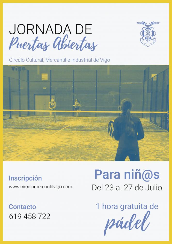Una semana de clases gratis de pádel para niños y niñas