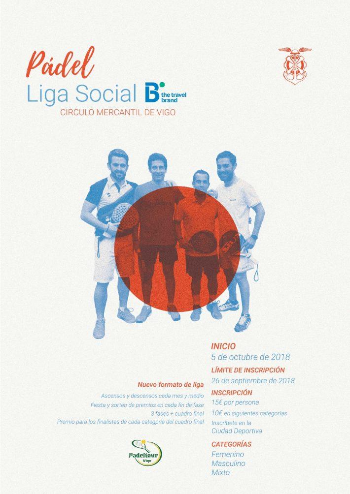 Inscripciones abiertas para la Liga social de pádel