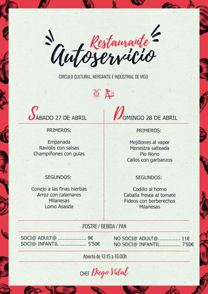 Menú Autoservicio 27-28 de abril