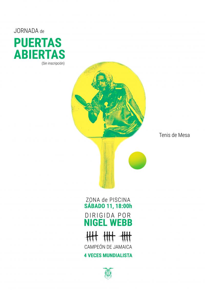 Ven a probar el tenis de mesa con el mundialista Nigel Webb