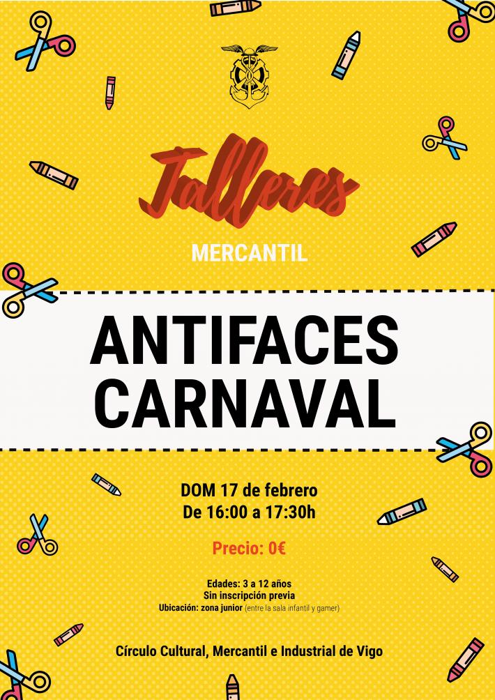 Taller antifaces de Carnaval