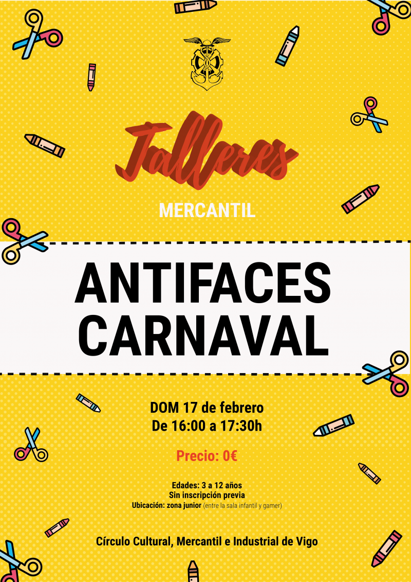 Taller antifaces de Carnaval